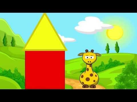 Развивающие мультики. Жирафик Лонги. Учим цвета. Учим формы. Развивающие Мультики для детей.