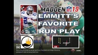 MADDEN 19 RUSHING TIP - EMMITT SMITH'S FAVORITE RUNNING PLAY - HB LEAD DRAW