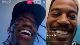 TRAVIS SCOTT & KID CUDI PLAY 2 NEW SONGS ON IG LIVE
