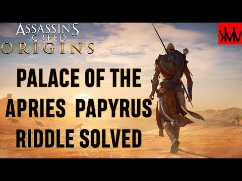 Assassins Creed Origins: Palace of Apries 'In Plain Sight' Papyrus Riddle SOLVED