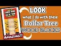 LOOK what I do with these Dollar Tree WOOD BLOCKS!!!!! DOLLAR TREE DIY