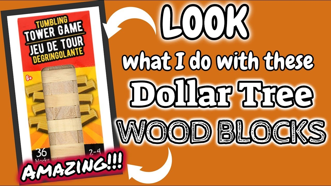 Look What I Do With These Dollar Tree Wood Blocks Dollar Tree Diy