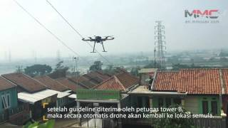 The Spider UAV assists power line stringing in Indonesia