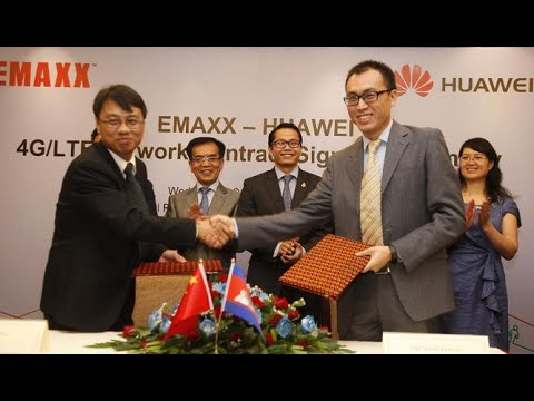 Cambodian telecom firm cooperates with China's Huawei ▶ cambodia news today 2015