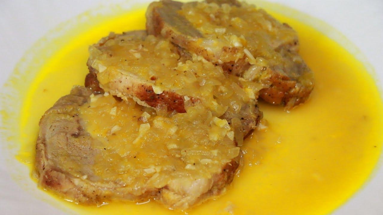 Мясо в апельсиновом соусе рецепт