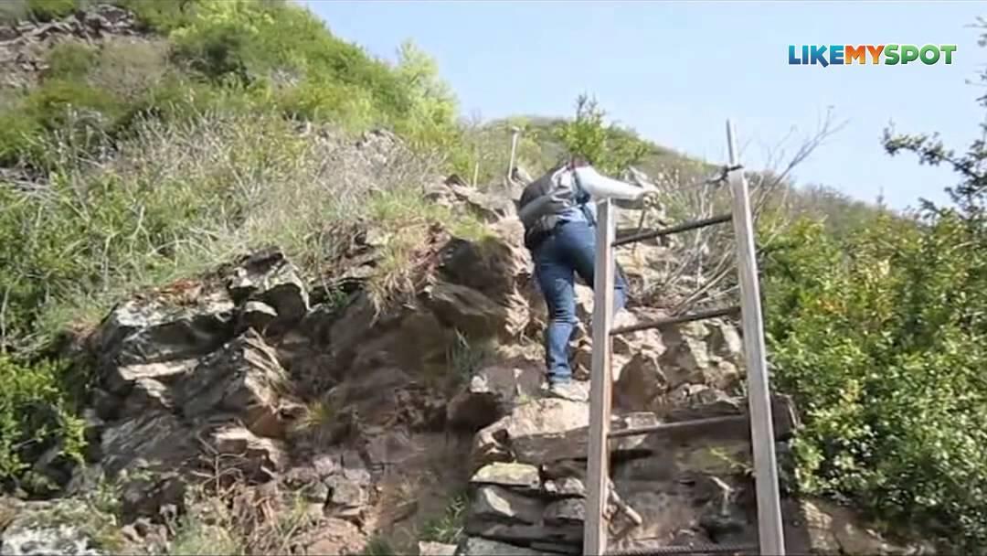 Klettersteig Mosel : Wandern in rheinland pfalz auf dem calmont klettersteig mosel