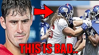 New York Giants Get Into HUGE TRAINING CAMP FIGHT Daniel Jones and Logan Ryan Involved
