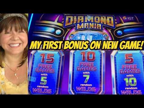 I DID IT! FINALLY A WILD BONUS ON NEW DIAMOND MANIA SLOT - 동영상