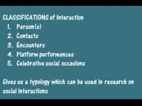 Goffman And The Interaction Order Youtube