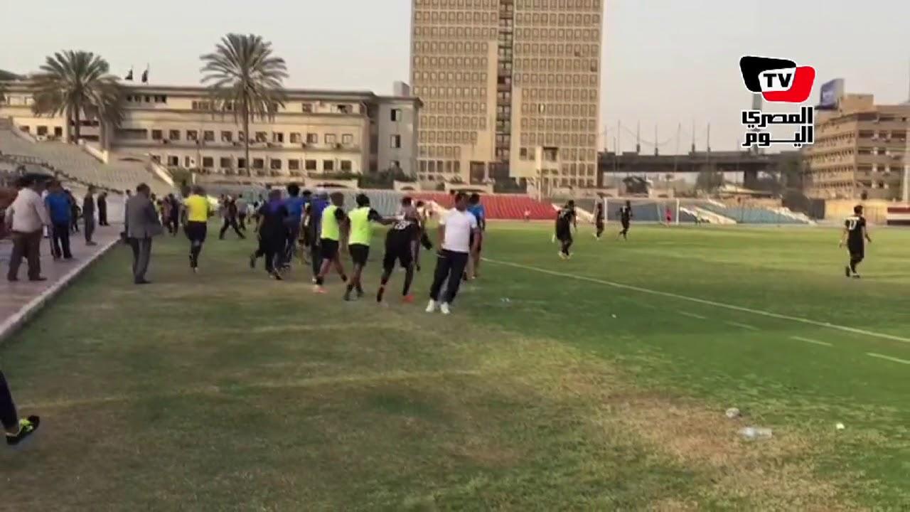 المصري اليوم:لحظة احتفال لاعبى شبين بهدف الفوز علي الترسانة والنجاة من الهبوط