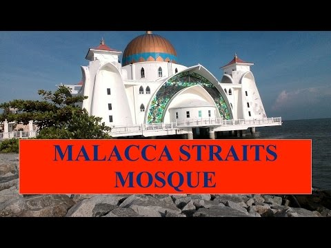 Entering Malacca Straits Mosque