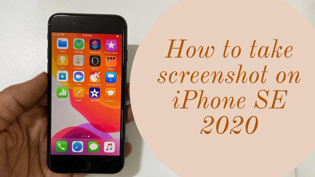 How to take screenshot on iPhone SE 12 120120