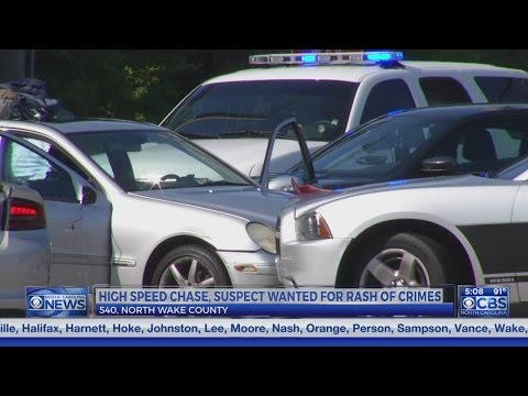 Patrol chase for silver Mercedes in Raleigh ends at 540 and Capital