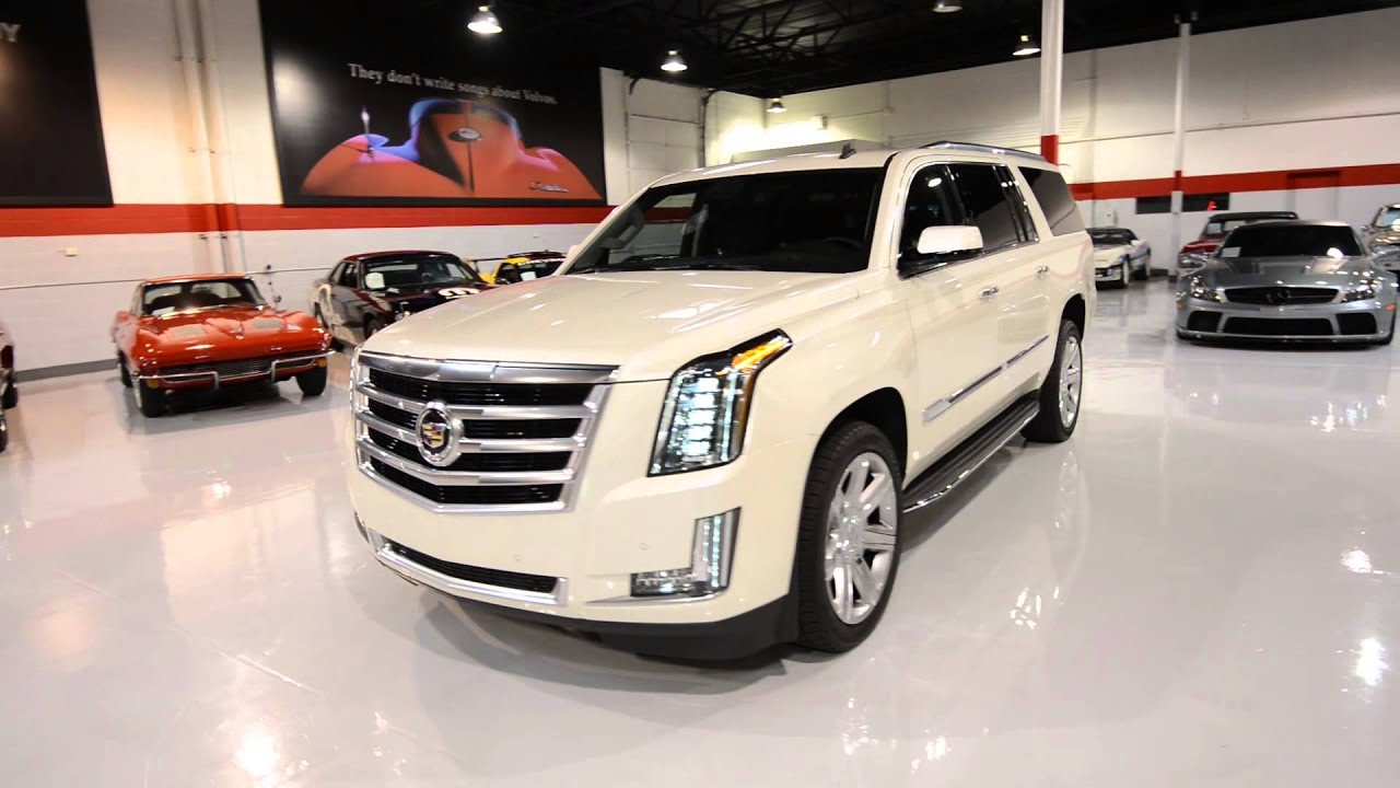 2015 cadillac escalade esv white diamond tricoat   youtube