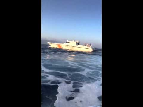 Turkish Coast Guard Abuse!!!  Refugee Video 14/09/2015