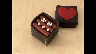 [가죽공예 leathercraft] 가죽 쥬얼리 박스 만들기 Making a leather jewelry b…