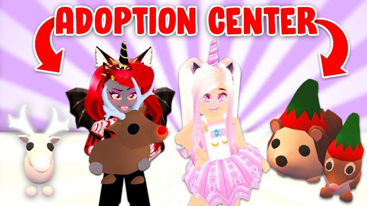 Iamsanna And I Opened A Christmas Pet Adoption Center In Adopt Me