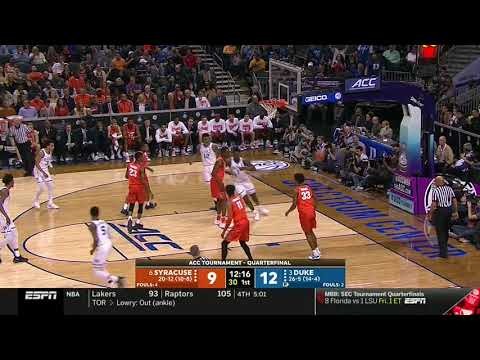 Brother Wease - WATCH: Syracuse's Howard Appears to Try and Trip Duke Star Williamson