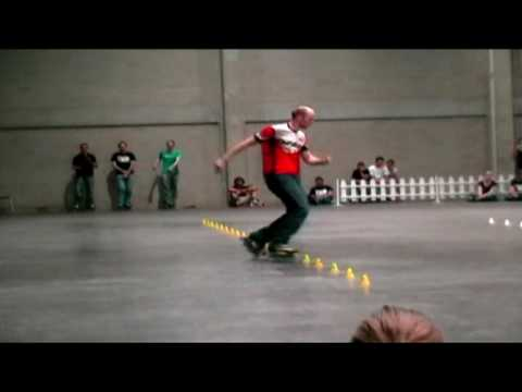 Freestyle Slalom: Thomas Vi @ Battle Belgium 2009 / Gyro Wheels / Twincam ILQ