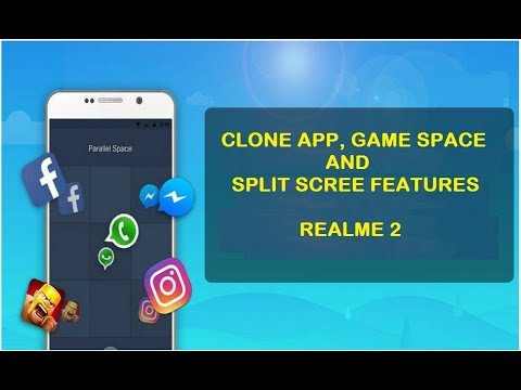 Realme 2 Clone App, Game Space and Split Screen