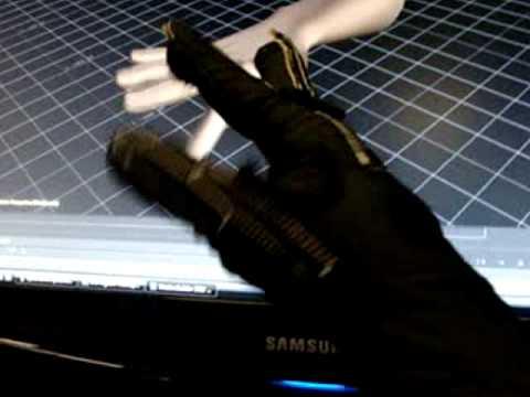 Cyber glove.  Flex sensitive glove for use in games.