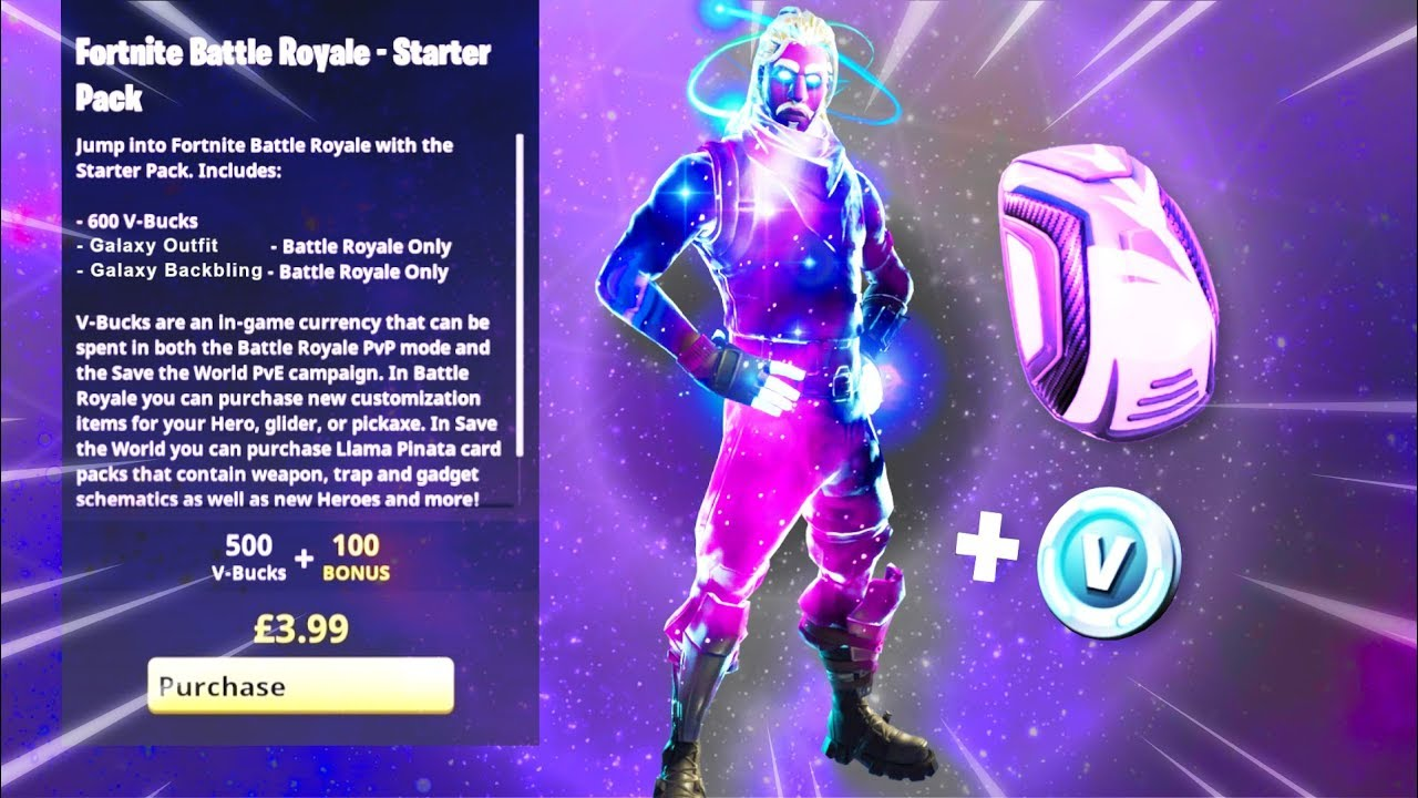 How to download galaxy starter pack for free how to get new free galaxy skin fortnite pack - Fortnite galaxy skin free ...