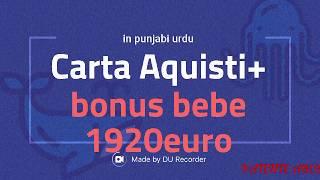 Carta Aquisti 480+ 1920euro per Bonus bebe (Assegno di Natalita) in urdu punjabi +393511897929