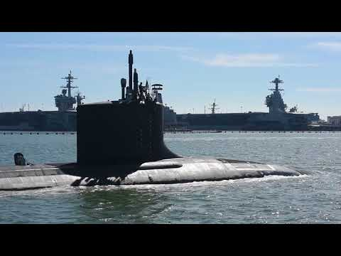 PCU Washington (SSN 787) Pulls into Naval Station Norfolk following Sea Trials