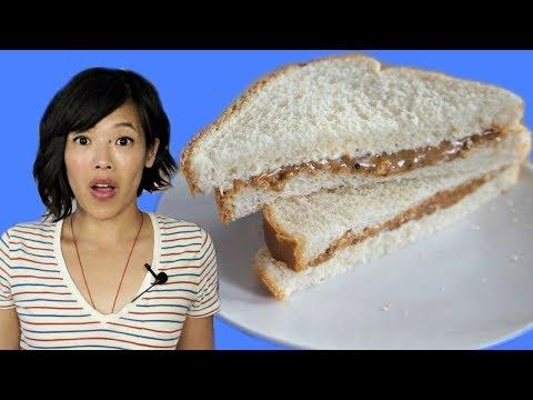 Depression Era PEANUT BUTTER + MAYO Sandwich (Pickle & Onion, too) | HARD TIMES