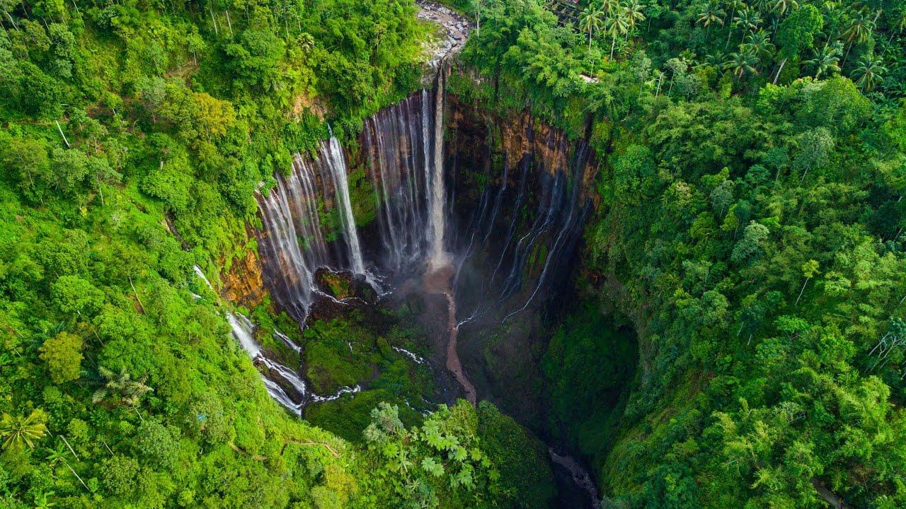 Tumpak Sewu Waterfalls In 4K DJI Mavic Pro