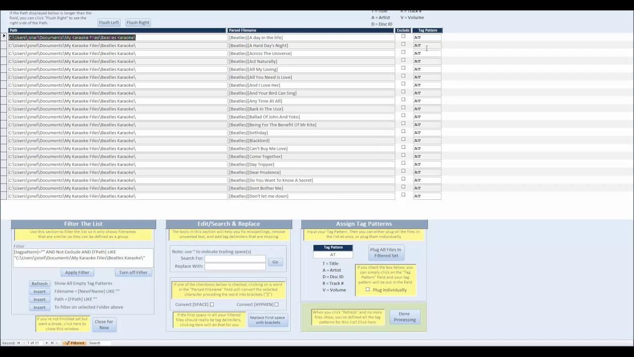 Karaoke File Name Fixer (Batch Rename Karaoke Files) - Quick Start Tutorial