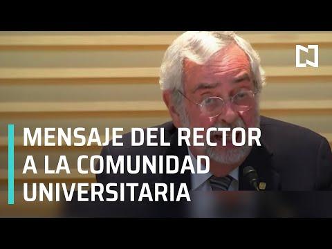 Mensaje de Rector de la UNAM