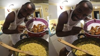 Cooking With Chef O Nasty- Perfect Chicken Wings With Macaroni And Cheese! Country Style!