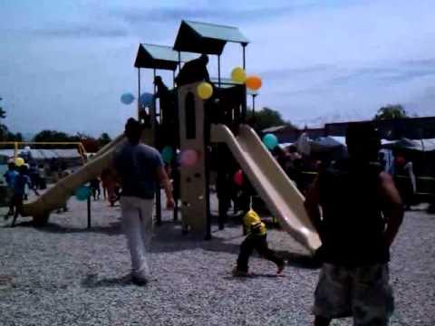 Carrefour, Haiti playground opening