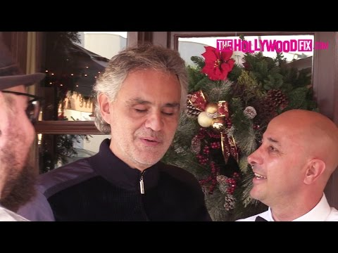 Andrea Bocelli Has Lunch With Family At Il Pastaio Restaurant In Beverly Hills 12.5.16