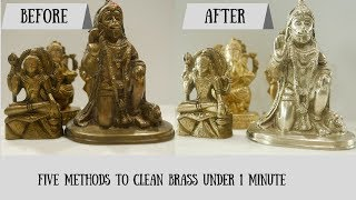 How To Clean Brass  | 5 Easy Brass Cleaning Ideas | Priyanka Uppal