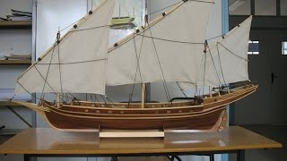 Model 1/30 Du Chebec Algerien /  Wooden Boat Model ( 1 )