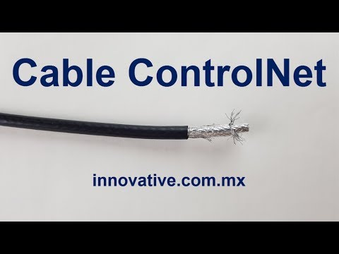 Cable ControlNet Coaxial RG-6/U Doble Blindaje Doble Malla para Eq Allen Bradley Rockwell Automation