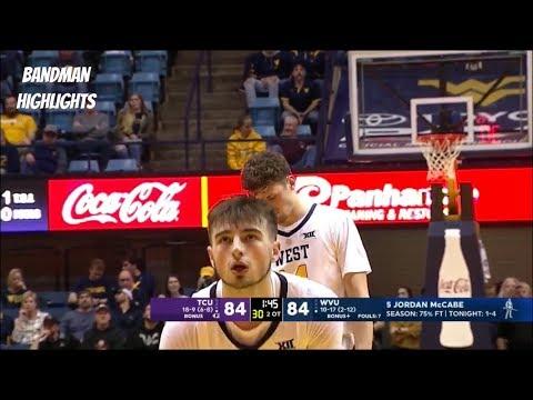 Jordan McCabe West Virginia vs TCU- Full Highlights/ 2.26.19/ 25pts 11ast 5reb