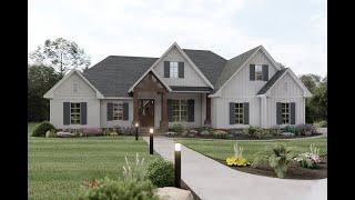 CRAFTSMAN HOUSE PLAN 041-00198 WITH INTERIOR