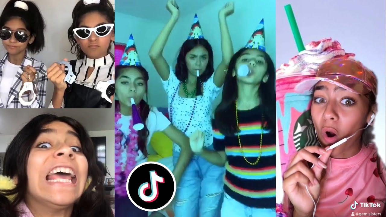 TikTok Compilation - Trying Popular Tik Tok Trends & Dances   GEM Sisters