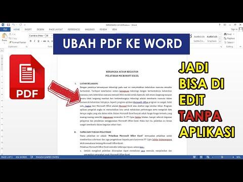 Cara Mengubah PDF ke WORD Tanpa Aplikasi Bisa di Edit | Tutorial Word Pemula – Bengkel Excel