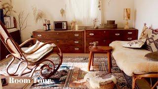 【ルームツアー】植物と古家具に囲まれたお洒落すぎるお部屋|好きな物を好きなだけ使った落ち着ける空間|ドライフラワー・カフェ風・1LDK一人暮らし・宮崎県|Room tour