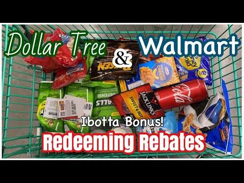 Redeeming Rebates At Dollar Tree & Walmart | IBotta Essential Bonus! | Meek's Coupon Life