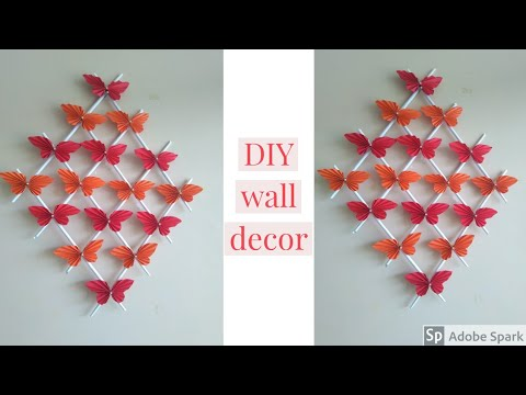 Paper Butterfly Wall Hanging - DIY Easy Hanging Paper Butterfly - Wall Decoration ideas |parulpawar