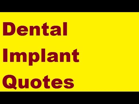 dental implant quotes a warning