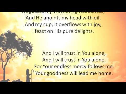 The Lord's My Shepherd - Stuart Townend (Lyrics)