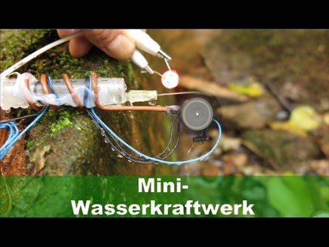Mini-Wasserkraftwerk aus PC-Lüfter
