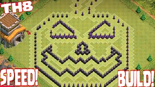 Clash Of Clans - TH8 PUMPKIN BASE SPEED BUILD!!! (Halloween Special)