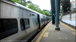 MNCR Harlem Line: Two M7As and One M3A at Pleasantville RR Station